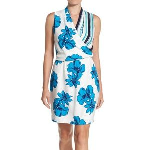 Halogen Floral Stripe Summer Tank Wrap Dress